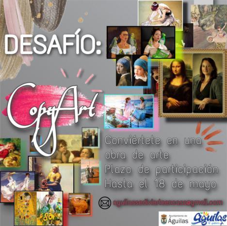 La Concejalía de Cultura pone en marcha CopyArt, un desafío que propone que te conviertas en obra de arte