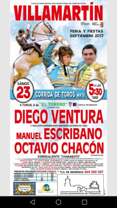 Hoy gran corrida de toros en Villamartín ( Cadiz)