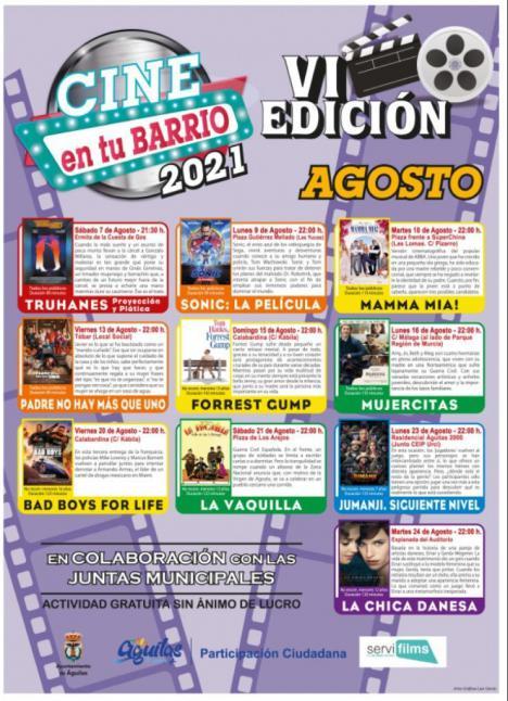 """La VI edición de """"Cine en tu barrio"""" continúa durante este mes de agosto en Águilas"""