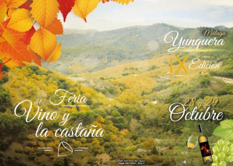 IX Edición de la Feria del vino y la castaña en Yunquera 28 y 29 de octubre de 2017