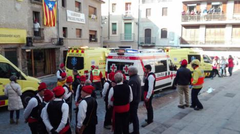 Catorce heridos en una explosión pirotécnica durante las fiestas de Centelles