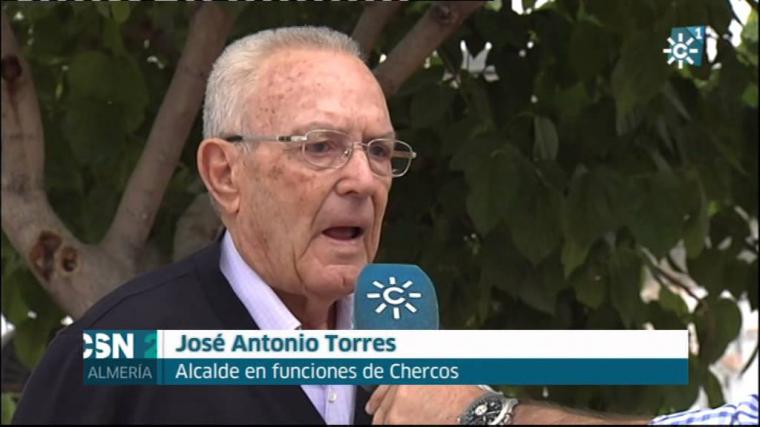 José Antonio Torres, alcalde de Chercos (Almería) se vuelve a presentar a pesar de sus 95 años