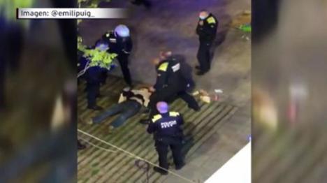 La Guardia Urbana de Barcelona repele a tiros un intento de agresión