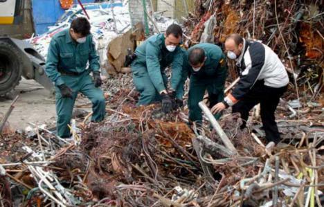 Detienen a tres hombres por el robo de 200 kilos de cable de cobre