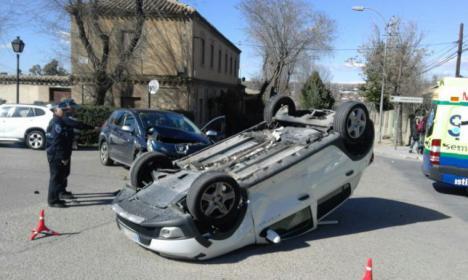 ¡Menudo accidente!