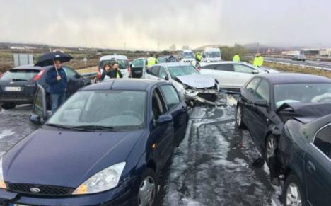 30 vehículos se ven implicados en un accidente de tráfico múltiple en La Rioja