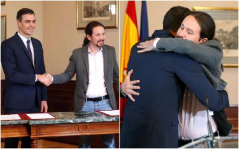 PSOE y Podemos pactan que paguen más las rentas más altas y la derogación de las medidas adoptadas en la reforma laboral de Mariano Rajoy.