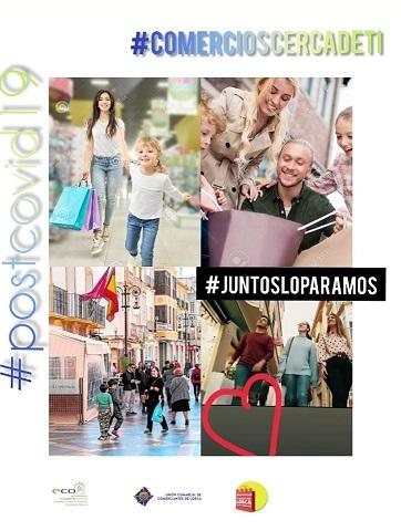 La Concejalía de Comercio muestra su apoyo a los comerciantes de Lorca, que han lanzado una campaña positiva para no olvidar que habrá un 'post-coronavirus'