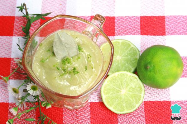 Crema inglesa de limón