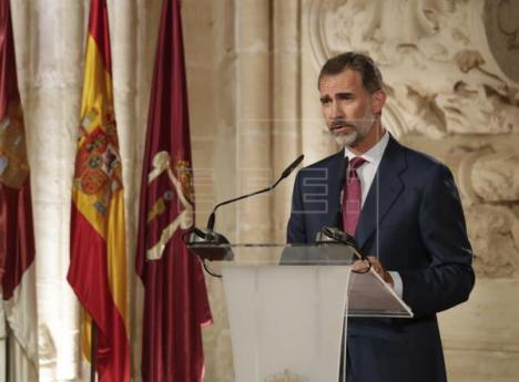 El rey, se moja por fin con el problema catalán