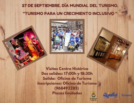 """Águilas se suma al Día Mundial del Turismo con el lema """"Turismo para un crecimiento inclusivo"""""""