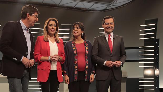 El PP y Ciudadanos siguen cayendo en las encuestas mientras Adelante Andalucía y VOX, suben