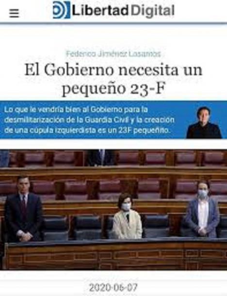"""Jiménez Losantos aboga por un golpe de estado: """"El Gobierno necesita un pequeño 23-F"""""""