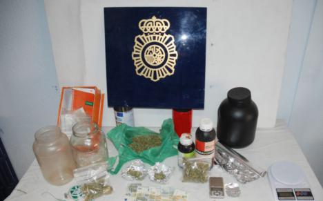 Desarticulado un importante punto de venta de marihuana en Alcazar de San Juan