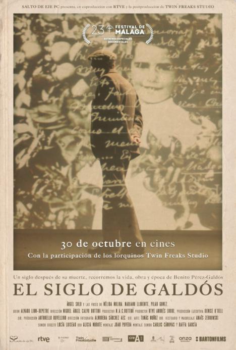 Los lorquinos Juan y Pedro Poveda presentan la producción de su documental, 'El siglo de Galdós', que se estrenará en los cines ACEC Almenara el próximo viernes, 30 de octubre