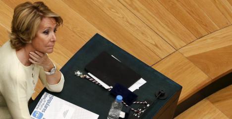 Esperanza Aguirre dice no saber nada del seguimiento a sus compañeros