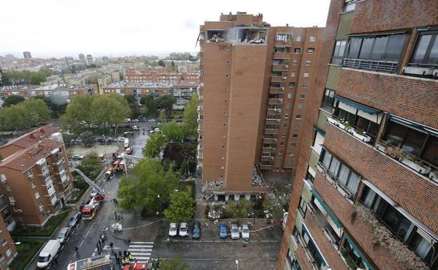 Una explosión de gas en Puente de Vallecas deja 16 heridos