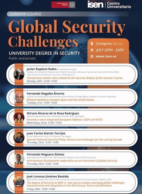 """ISEN organiza el ciclo de conferencias """"Desafíos de la seguridad global"""" impartido por expertos en la materia, en geopolítica y defensa"""