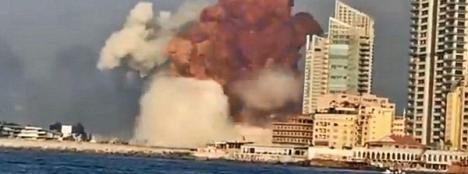 El nitrato de amonio almacenado en una nave provocó la explosión de Beirut