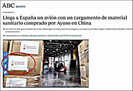 PP DE MADRID Y ABC FABRICAN UN BURDO ENGAÑO PARA HACERNOS CREER QUE HAN LLEGADO LOS DOS AVIONES FLETADOS POR DÍAZ AYUSO
