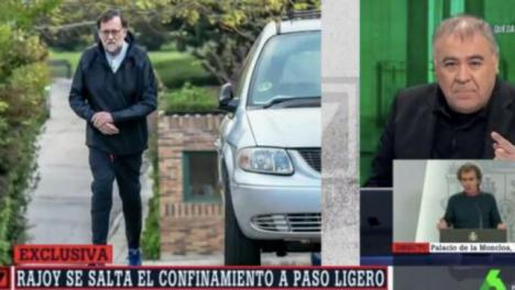 Rajoy denunciado por la policía por saltarse el confinamiento