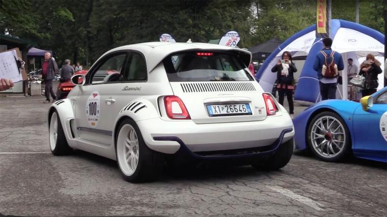 El Giannini 350 GP es el Fiat 500 con motor de Alfa Romeo 4C y tracción trasera