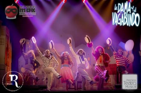 La producción lorquina 'La Dama y El Vagabundo, El Musical' sigue sumando nominaciones en los grandes premios de la industria del teatro musical nacional