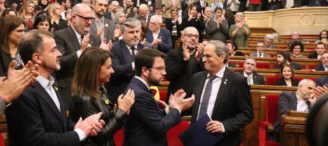 El Parlament ratifica a Torra
