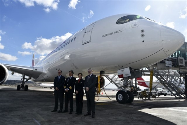 IBERIA BAUTIZA SU NUEVO AVIÓN A350 CON EL NOMBRE DE MUSEO DEL PRADO