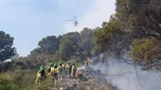 Incendio en Vélez de Benaudalla, por la negligencia de un agricultor