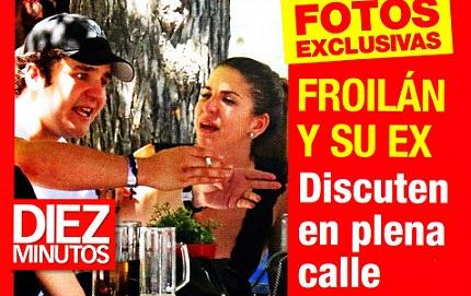 Froilán de todos los Santos a 'grito pelao' en la calle con su ex novia