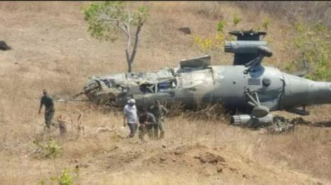 Cae a tierra un helicóptero del ejército venezolano con siete tripulantes