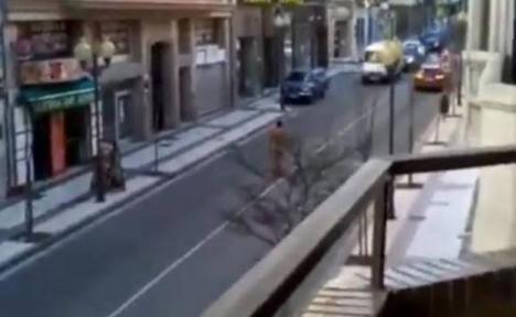 Un hombre de 41 años se pasea desnudo por Tudela