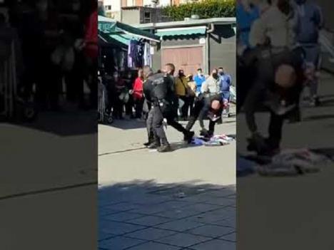 CSIF muestra su total apoyo a la actuación de los policías que detuvieron al vendedor ambulante ilegal en la Plaza Pavía