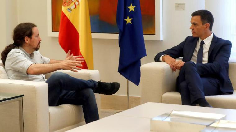 'Vamos a trabajar para ponernos de acuerdo', palabras de Pablo Iglesias tras la reunión
