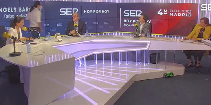 Pablo Iglesias abandona el debate la SER tras un enfrentamiento con Rocío Monasterio