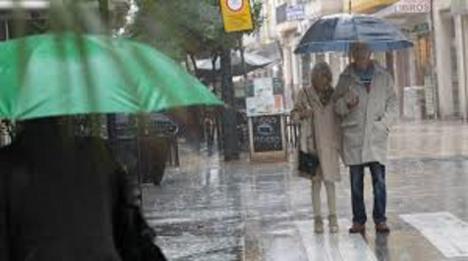Lluvias en buena parte de España