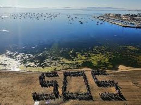 El PSOE denuncia que el Mar Menor es la prueba más evidente de la falta de políticas medioambientales del PP