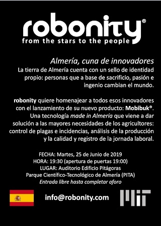 El próximo 25 de junio se presenta en el Auditorio del Parque Científico-Tecnológico de Almería, Mobibuk