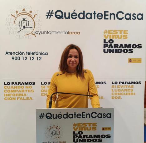 """Isabel Casalduero: """"Lorca no pierde ningún curso de formación puesto que solamente han sido suspendidos con motivo del estado de alarma"""""""