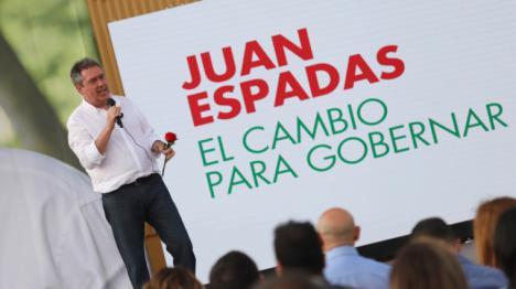 Juan Espadas: 'El PSOE ha vuelto, está preparado para volver a gobernar y vamos a trabajar para conseguirlo'