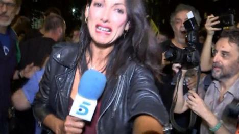 Laila Jiménez, periodista de Telecinco agredida cuando cubría la información del 1-O