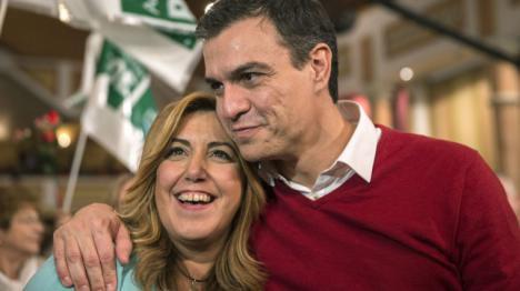 Susana Díaz con el cuchillo a lo Rambo dispuesta a cargarse a Sánchez y al PSOE