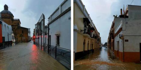 Inundaciones en Sanlúcar. Cae una tromba de agua de 40 litros en media hora