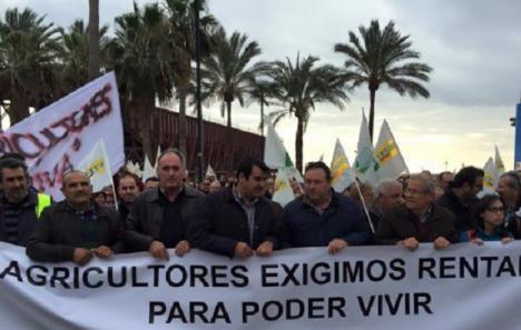 Almería se echa a la calle el día 19 bajo el lema 'Agricultura en extinción'