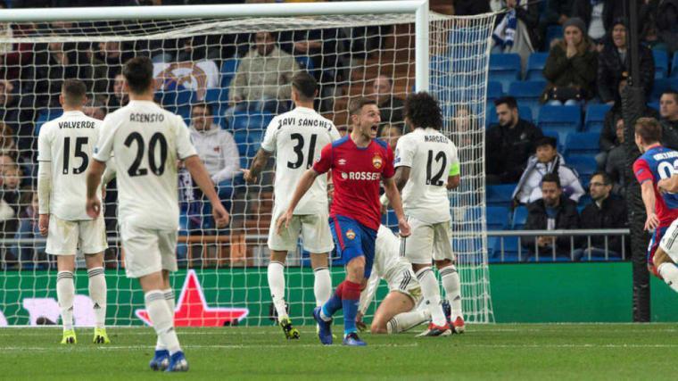 El CSKA de Moscú humilla al Real Madrid en el Bernabeu