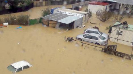 Cerca de un millar de incidencias en Andalucía con más de 600 avisos solo en Málaga por el temporal.