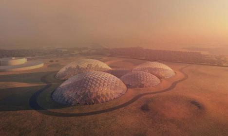 Te imaginas una ciudad marciana en la tierra.