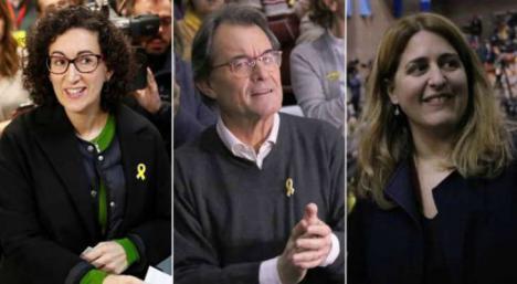 Marta Rovira, Marta Pascal, Artur Mas y Anna Gabriel ante el juez dentro de dos semanas
