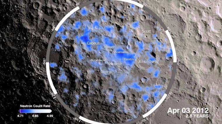 La NASA detecta agua en la superficie de la Luna